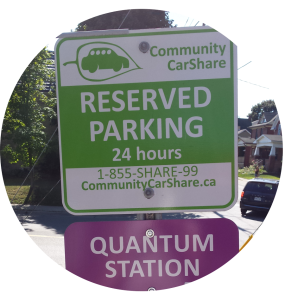 A circle of a carshare quantum station