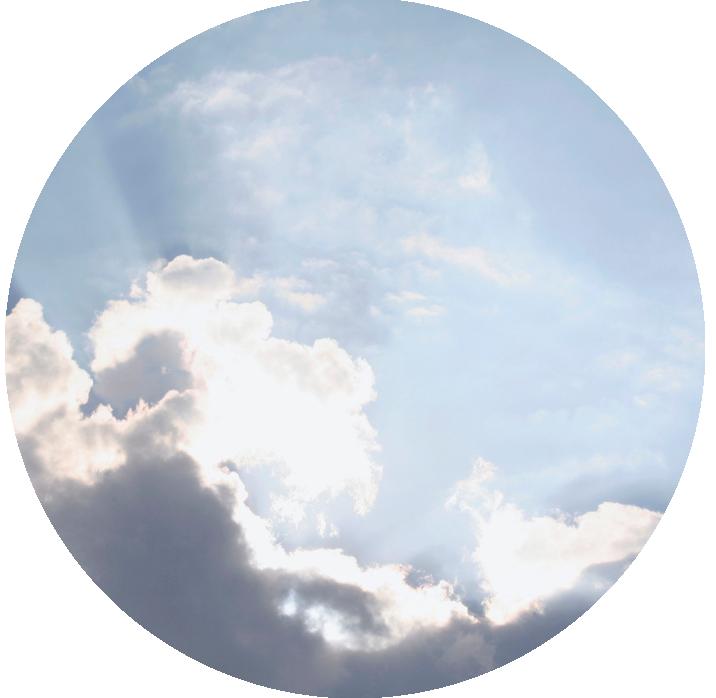 a circle of sky