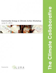 Community Energy and Climate Action Workshop – Facilitator's Summary