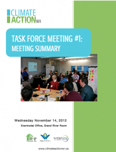 Task Force Meeting 1: Summary Report